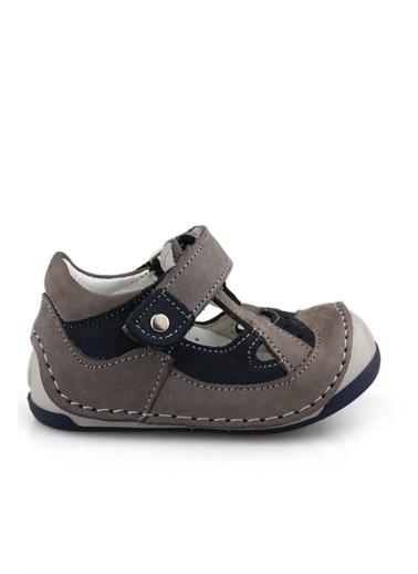Cici Bebe Ayakkabı Deri Erkek Çocuk Sandalet Gri